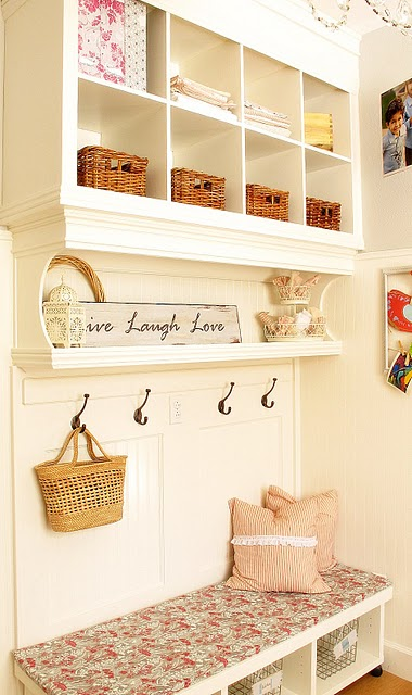 DIY Built In Wall Shelves Amp Bench My Uncommon Slice Of