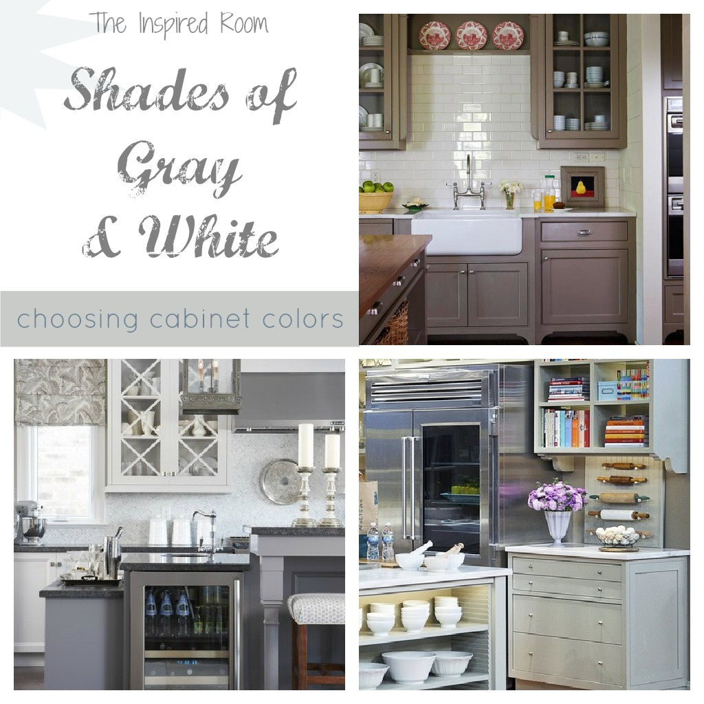 Best Kitchen Gallery: Shades Of Neutral Gray White Kitchens Choosing Cabi Colors of Black And Tan Accents With Gray Kitchen on rachelxblog.com