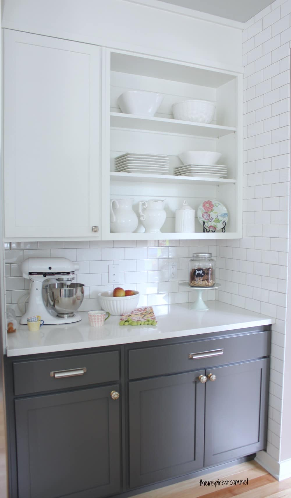grey kitchen wood floor on pinterest gray kitchens grey cabinets and gray cabinets on kitchen cabinets grey and white id=65915