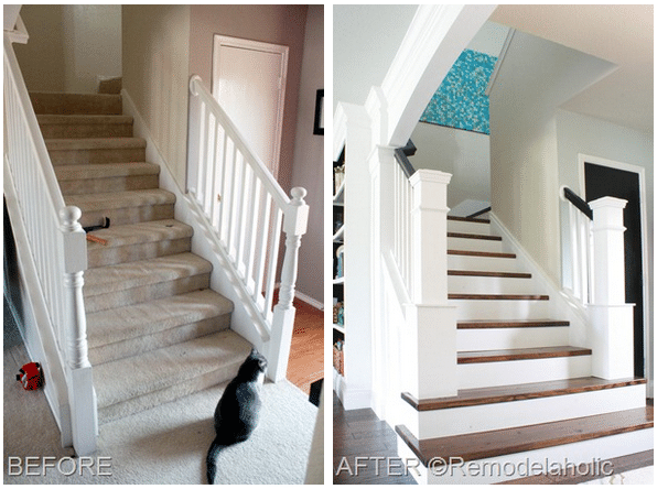 Staircase Makeover From Builder Blah To Custom WOW