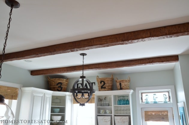 How to add wood beams your ceiling for Adding wood beams to ceiling