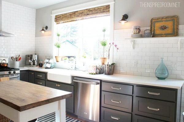 no uppers lots of light galley feel with range at the end island on kitchens without on farmhouse kitchen no upper cabinets id=85789