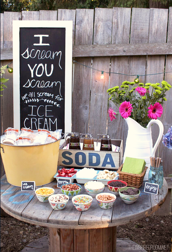 Backyard Party Decorating Ideas   Elitflat Backyard Ice Cream Party Summer Fun The Inspired Room