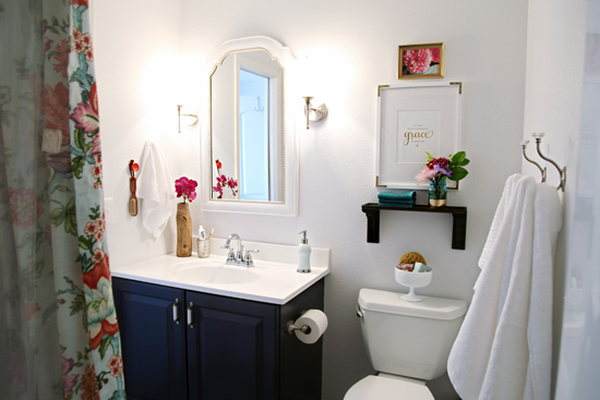 inspired rooms} pretty bathroom makeover - the inspired room
