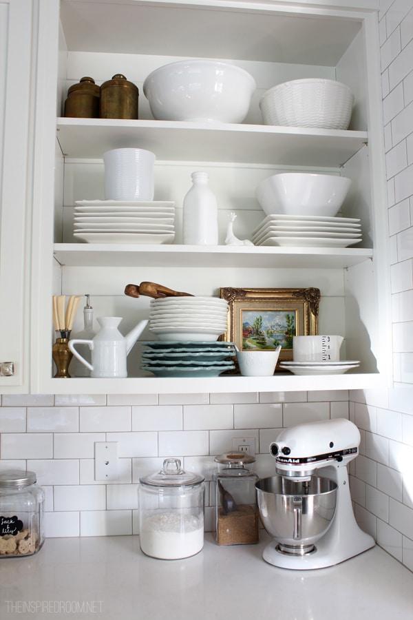 Open Kitchen Shelves Fall Nesting Inspired Room