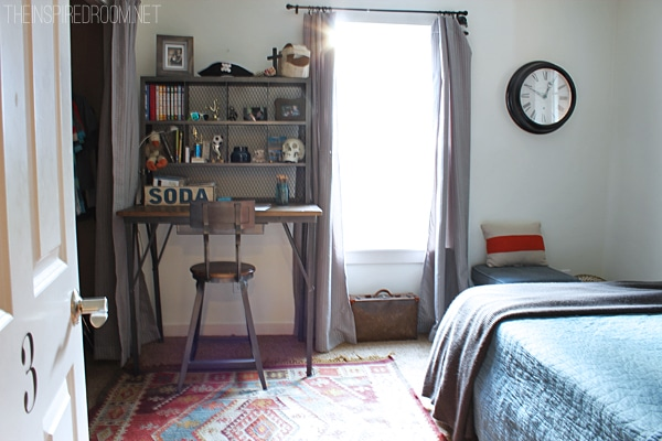 Teen Boy's Small Bedroom {An Update} - The Inspired Room on Teenager Simple Small Bedroom Design  id=36919
