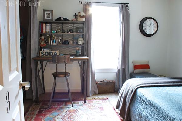 Teen Boy's Small Bedroom {An Update} - The Inspired Room on Small Teenage Bedroom  id=20272