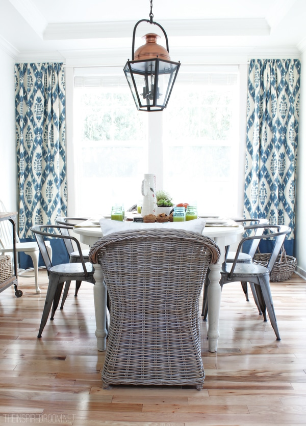 My New {Re-Invented} Summery Dining Room Curtains - The ... on Dining Room Curtains  id=40650