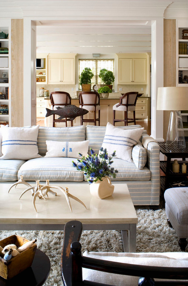 Subtle Striped Sofas - The Inspired Room on Photo Room Decor  id=95740