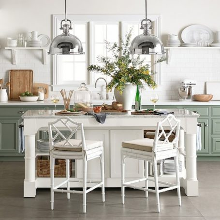 Barrelson Kitchen Island With Marble Top - Williams Sonoma