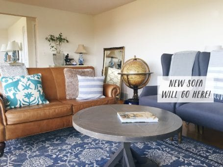 The Inspired Room - Testing Out New Living Room Arrangement