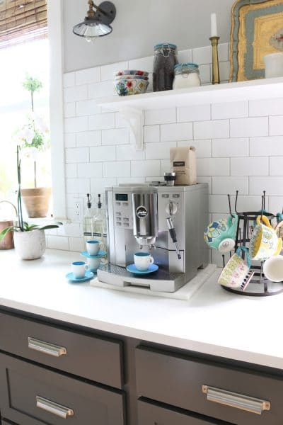 Kitchen Coffee Station - The Inspired Room