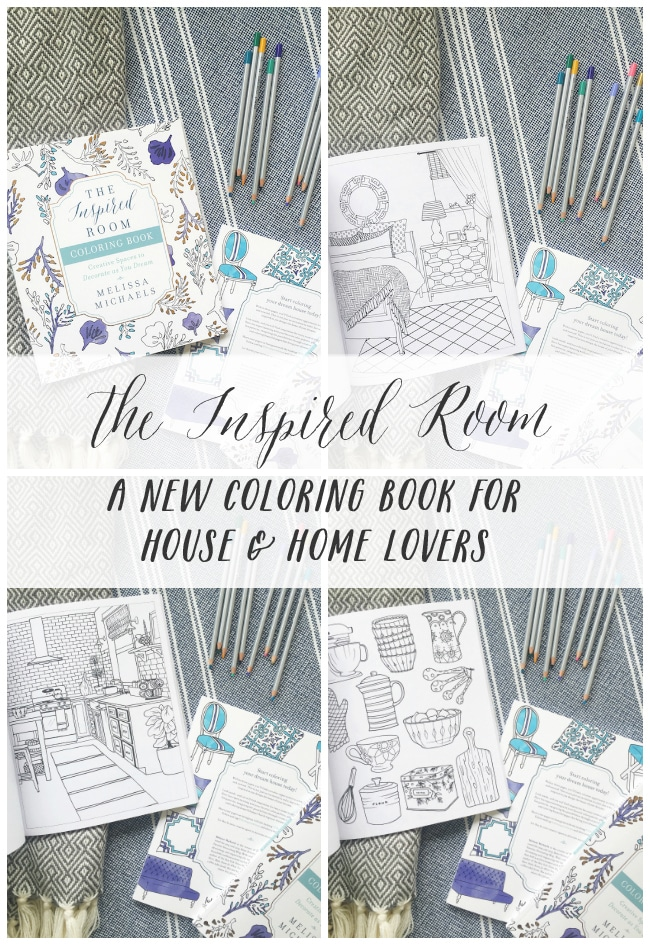Interior design coloring book inspired room, coloring pages love