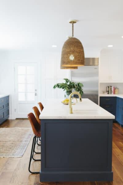 Woven Pendants Kitchen Studio McGee