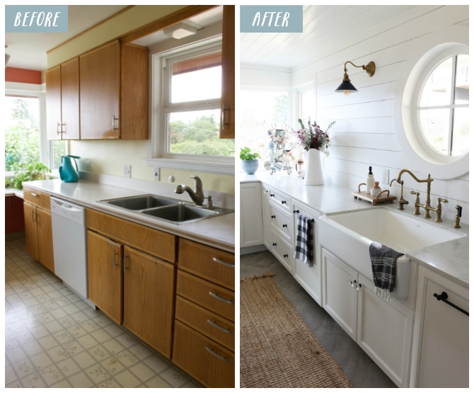 Small Kitchen Remodel Reveal!   The Inspired Room on Small Kitchen Renovation  id=42542