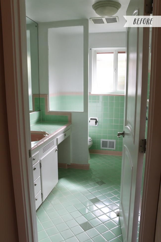 vintage bathrooms (my mint & pink bathroom) - the inspired room