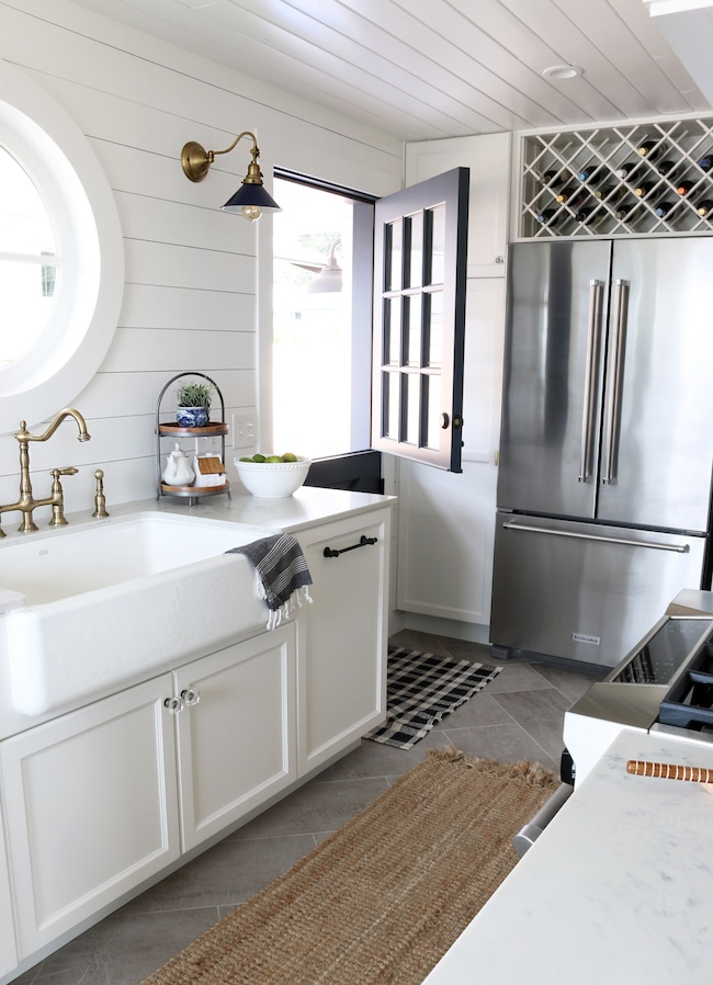Shiplap Kitchen Planked Walls Behind Sink Amp Stove The