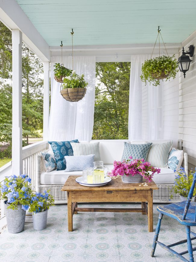 Inspiration: How to Decorate a Porch - The Inspired Room on Country Patio Ideas id=30480