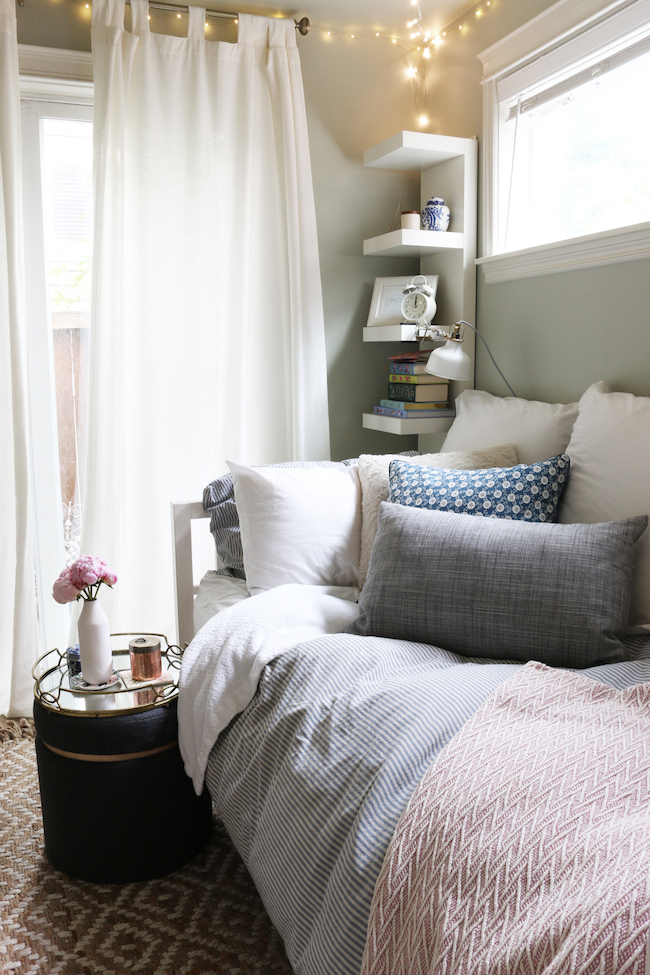 Tiny Bedroom Tour (Courtney's Room) - The Inspired Room on Small Rooms  id=87364