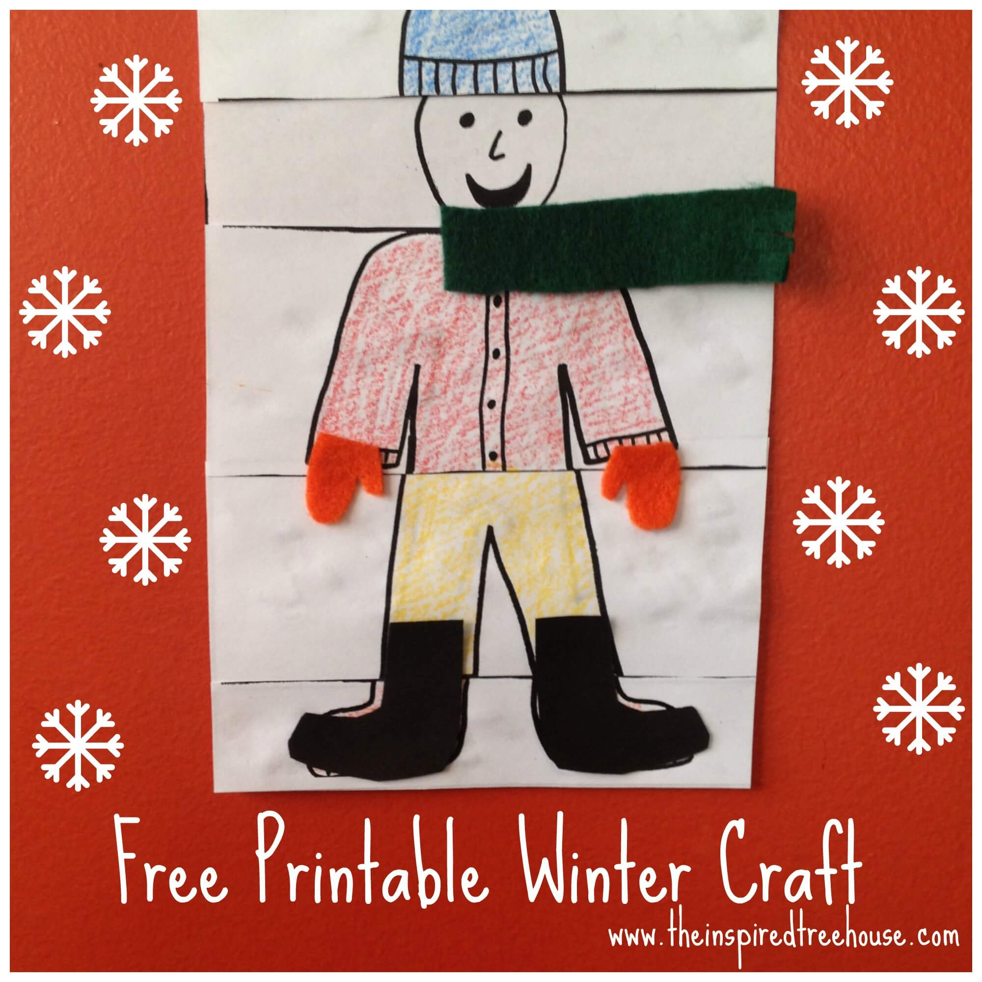 Printable Fine Motor Winter Crafts For Kids