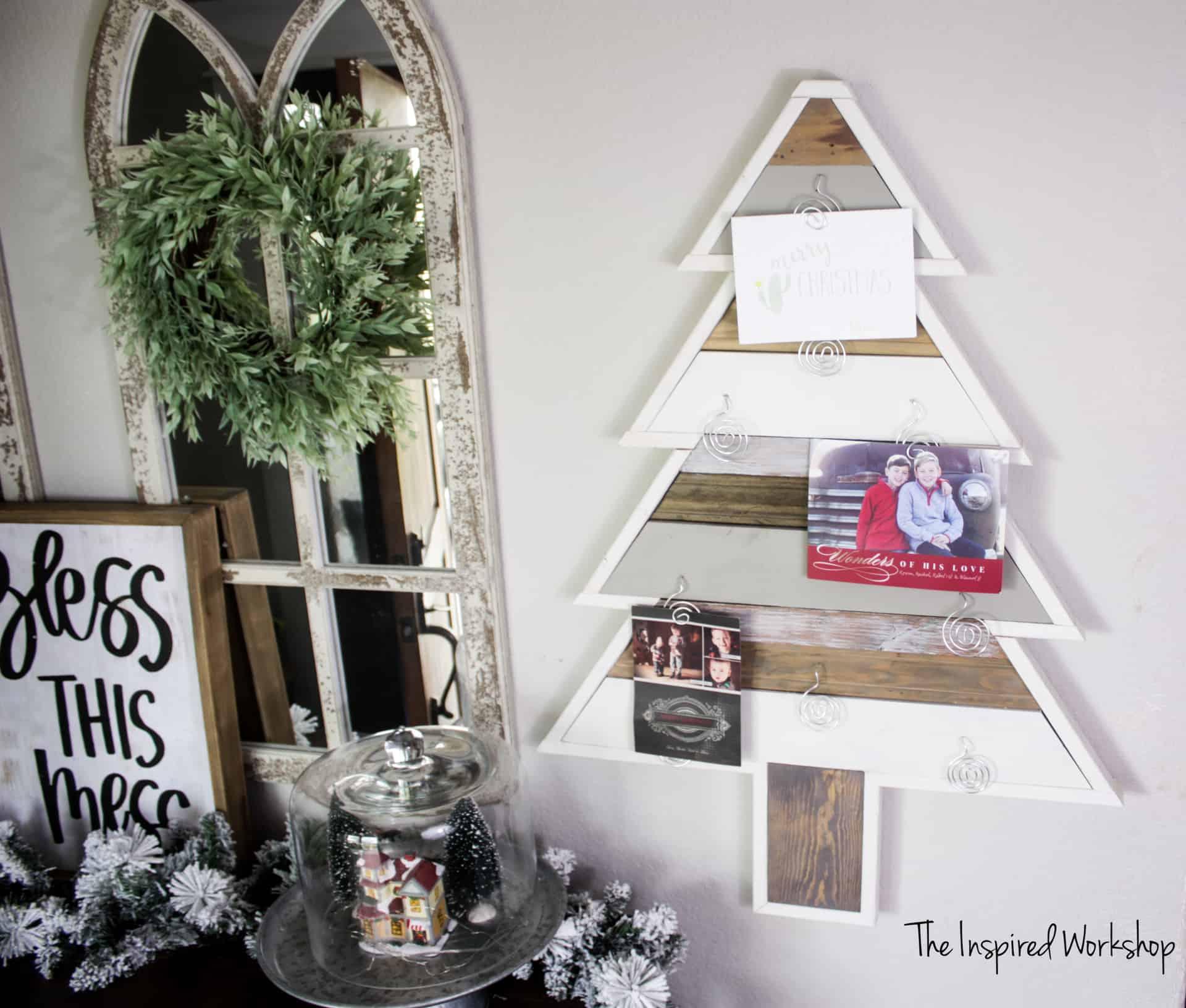 Diy Christmas Tree Card Holder The Inspired Workshop