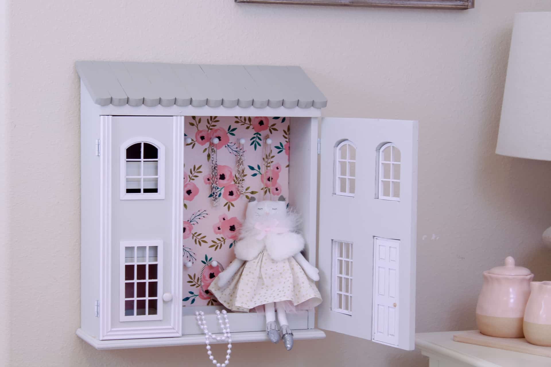 Diy Dollhouse Jewelry Cabinet The Inspired Workshop