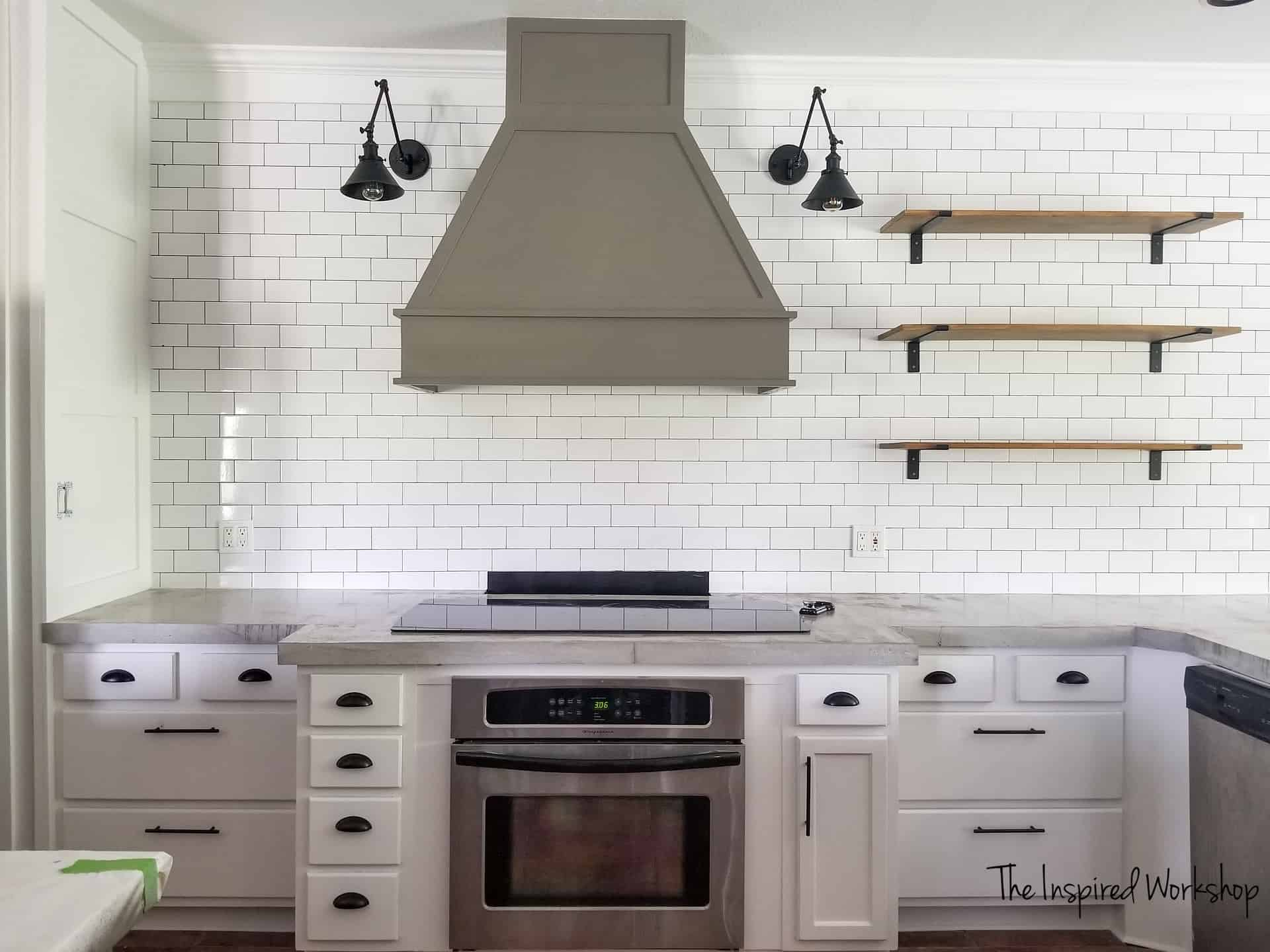 Merveilleux Kitchen Renovation Ideas   MOdern Farmhouse Style With Subway Tile, Vent  Hood And White Cabinets