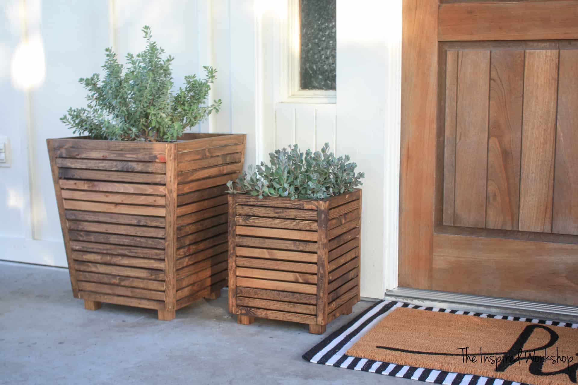 Diy Scrap Wood Outdoor Planter The Inspired Workshop