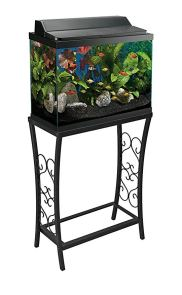 Aquatic Fundamentals Silver Vein Scroll Aquarium Stand