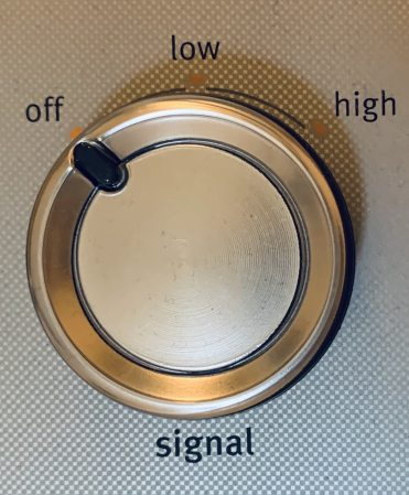 Signal Knob on Clothes Dryer