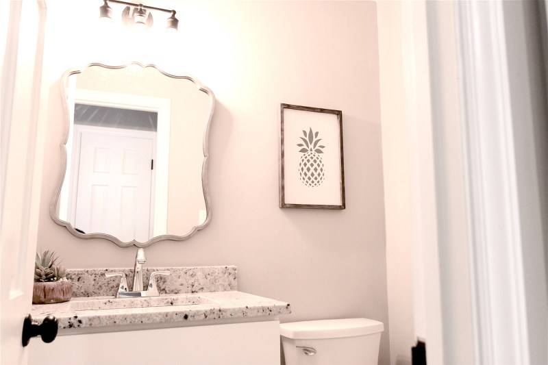 powder room after cary house flip