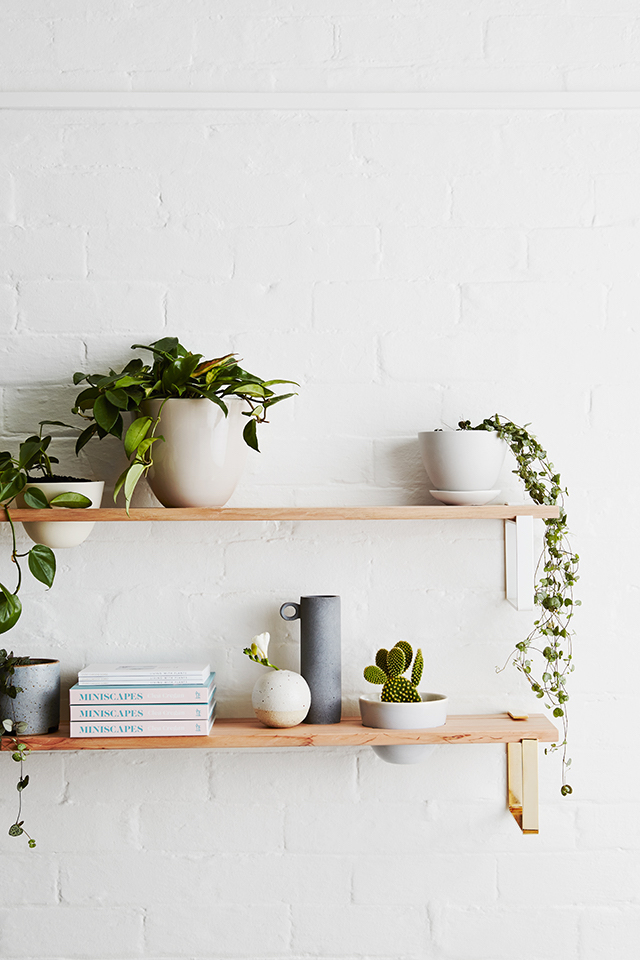 styled shelves how to white space breathing room