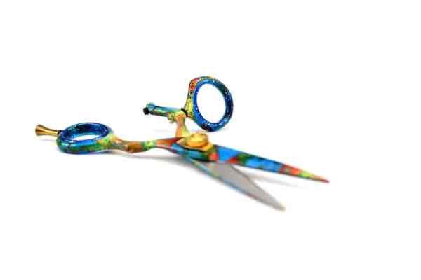 Hairdressers Scissors Revolving Thumb Swivel Ring-3