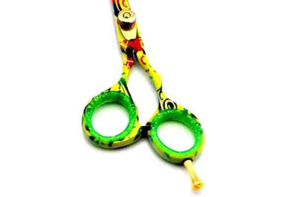 "Professional Barber Hairdressing 5.5"" Scissors Exotic Multicolor"
