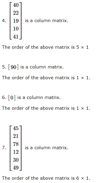 3.2 Column Matrix
