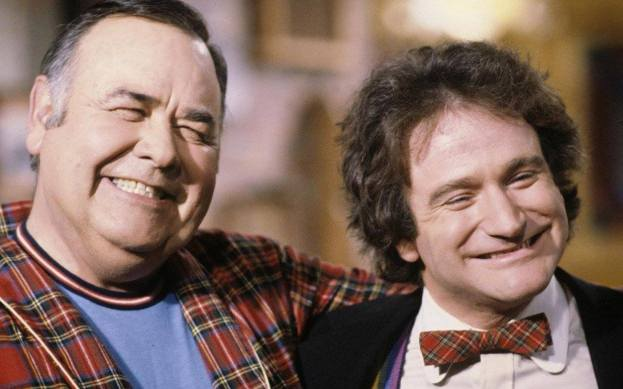 With his idol, Jonathan Winters