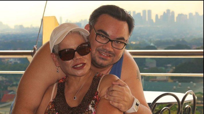 David and his Mom on her 59th birthday in the Philippines (Feb. 2014)