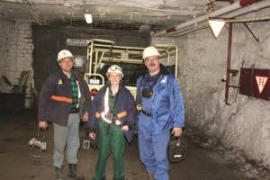 Carly at KGHM's Rudna copper mine in Poland. Copyright: The Intelligent Miner