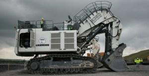 The Liebherr 9350 litronic hydraulic excavator