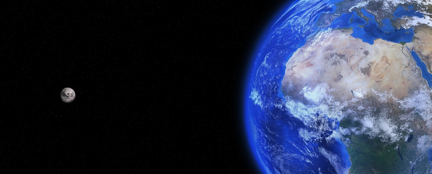 The Earth and moon from space. Image: Pixabay