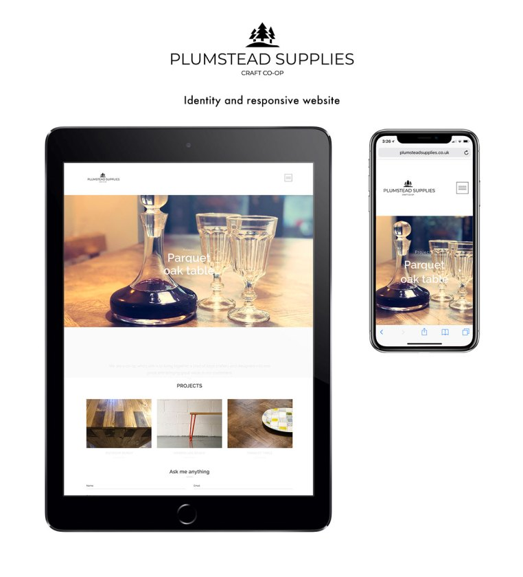 Plumstead supplies - Brand identity and responsive website