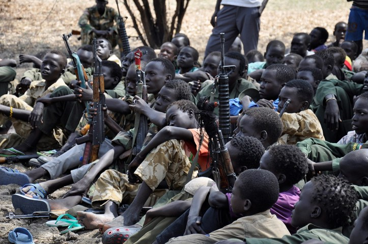 Image result for south sudan child soldiers