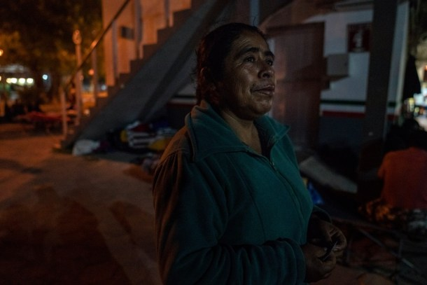 Margarita, from Oaxaca Mexico, waits near the Gateway International Bridge in Tamaulipas on Nov. 5, 2018. She has been waiting for nearly three weeks to seek asylum. Margarita only speaks her native tongue and a few basic words in Spanish.Photo: Verónica G. Cárdenas for The Intercept