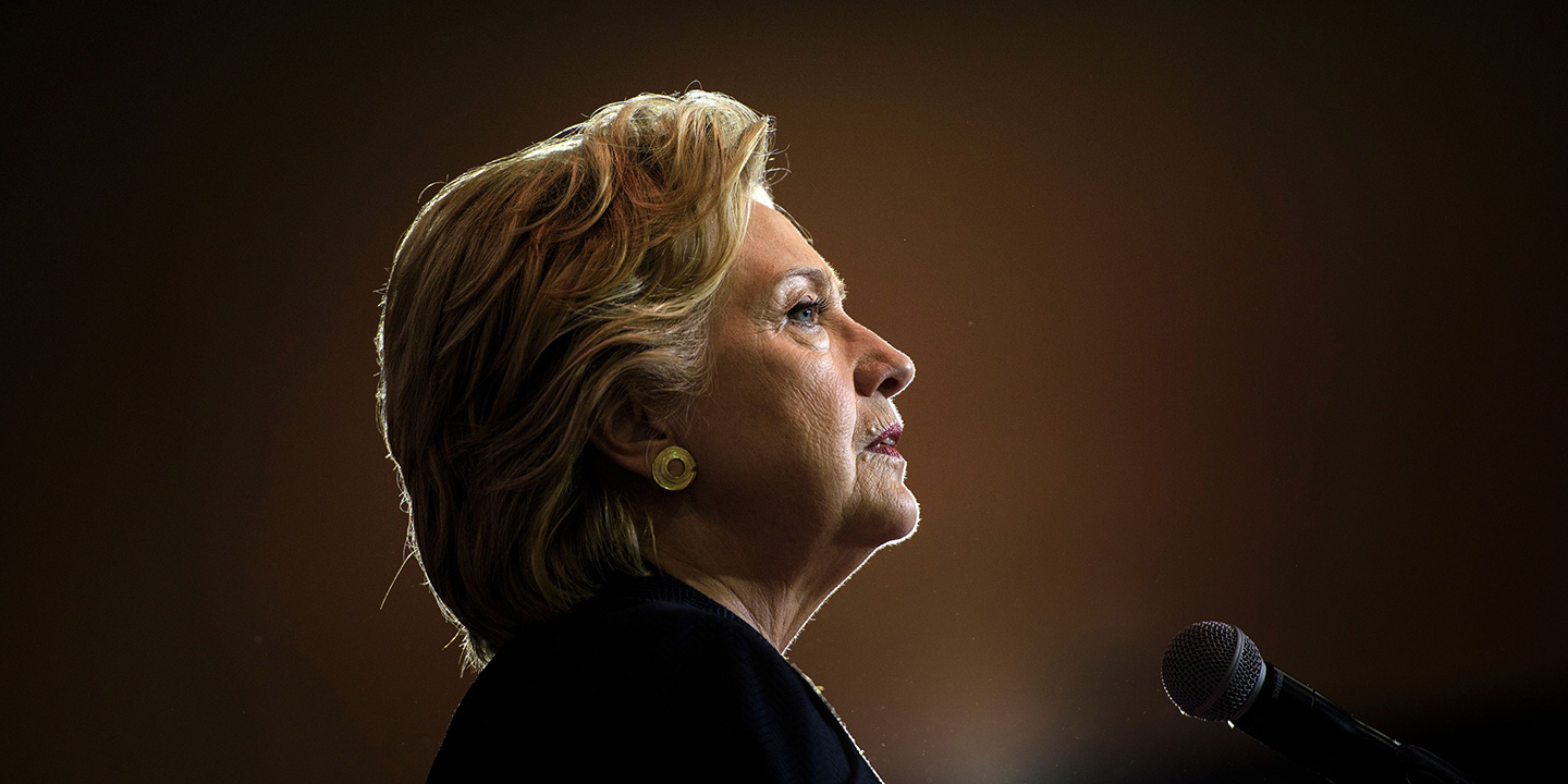 Behind Closed Doors  Hillary Clinton Sympathized With Goldman Sachs     TOPSHOT   Democratic presidential nominee Hillary Clinton speaks during a  North Carolina Democratic Party Rally at