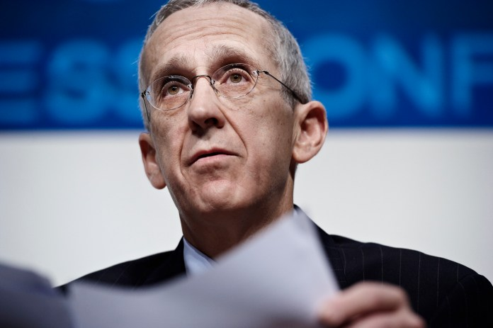 United States top climate envoy Todd Stern speaks during a press conference in the main venue of the UN Climate Summit in Copenhagen on Wednesday, Dec. 9, 2009. Stern said on Wednesday that getting an agreement that satisfies both rich and poor nations would not be easy. (AP Photo/POLFOTO, Claus Bjoern Larsen) ** DENMARK OUT **