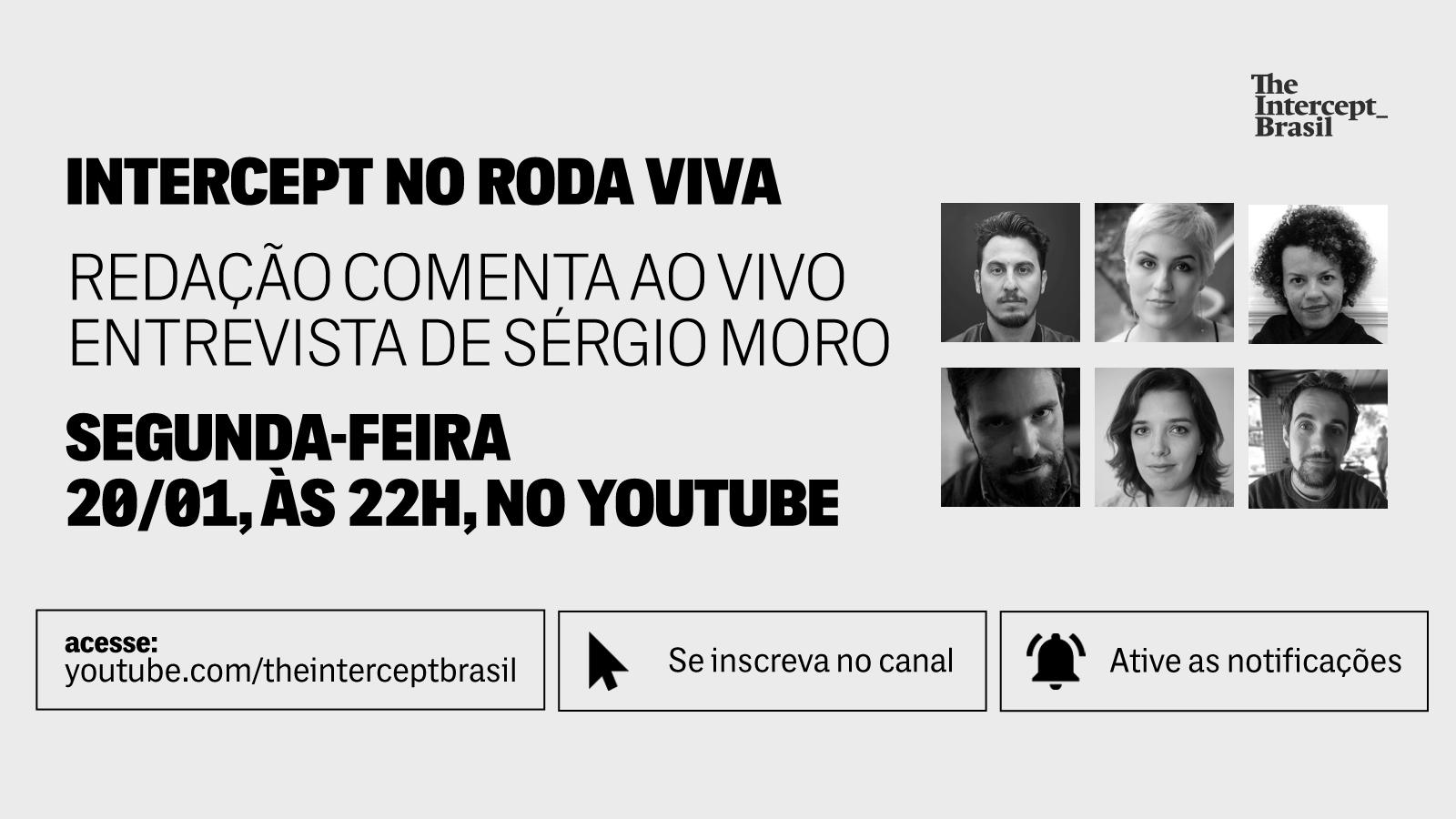 CHAMADA 2 LIVE TWITTER 1579537968 - The Intercept vai comentar, ao vivo, entrevista de Moro no Roda Viva - Por Leandro Demori