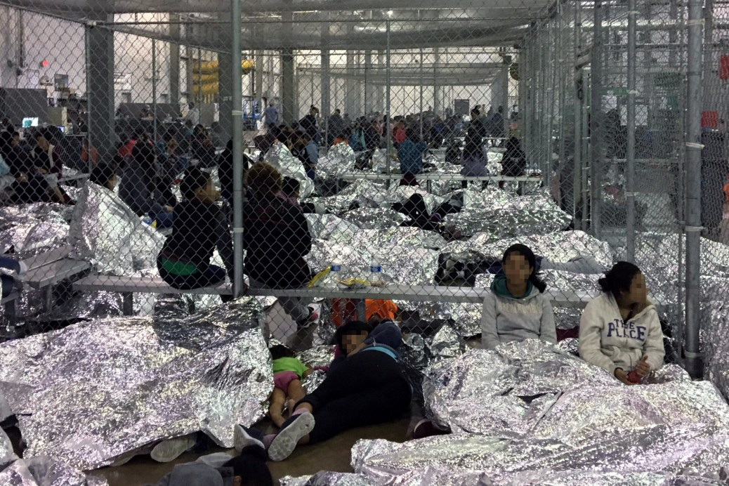 In this handout photo provided by the Office of Inspector General, overcrowding of families is observed by OIG at the U.S. Border Patrol McAllen Station Centralized Processing Center on June 11, 2019 in McAllen, Texas.