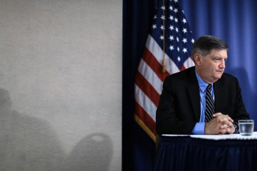 WASHINGTON, DC - AUGUST 14:  New York Times reporter James Risen participates in a news conference, where he and other journalists and journalism advocates talked about the Justice Department's pursuit of Risen's confidential sources, at the National Press Club August 14, 2014 in Washington, DC. Risen could face jail or punshing fines for not revealing his source of classified information for his 2006 book that detailed the CIA's efforts against Iran's nuclear program.  (Photo by Chip Somodevilla/Getty Images)