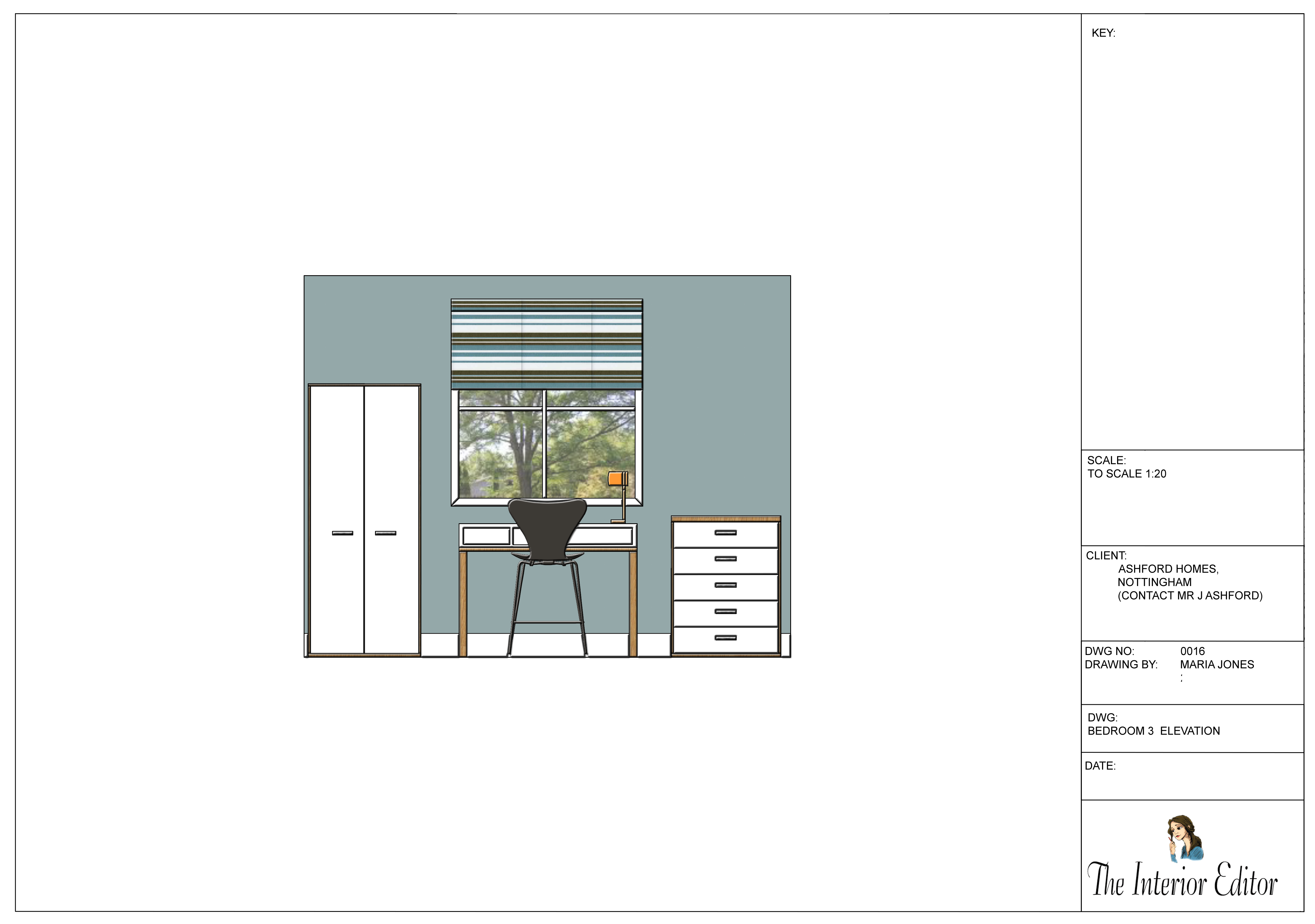 AutoCad Drawings, Such As This Elevation Drawing, Are Essential To The  Design Process An Interior Designer Undertakes.