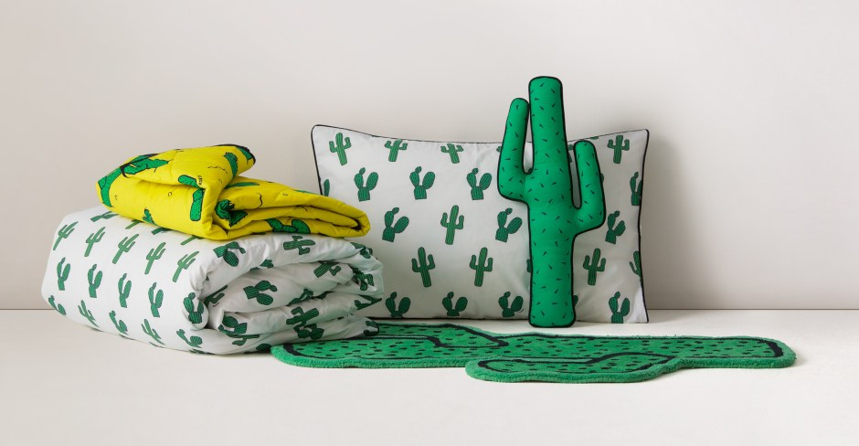 The Cactus Trend | This cactus bedding designed by Philip Colbert for Made.com is a great alternative to stereotypical children's bedrooms.